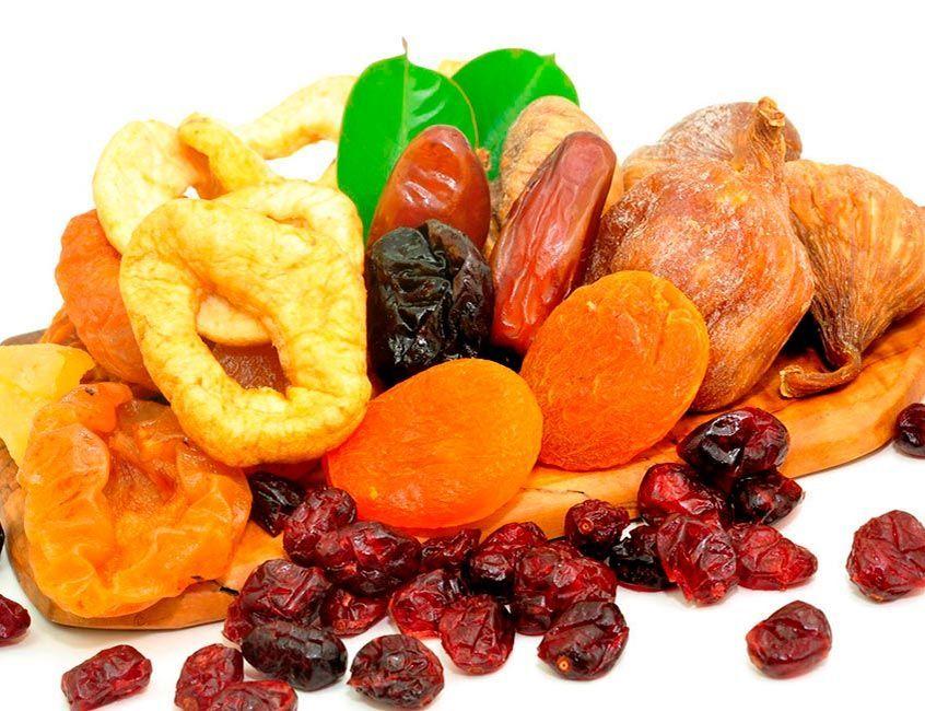 alimentos que no necesariamente son alimentos saludables - frutos secos - frutas descecadas