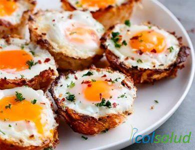 Canastitas de Coliflor y Huevo