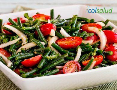 Ensalada de Porotos Verdes, Tomate, Cebolla y Albahaca