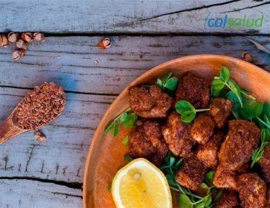 Nuggets de Pollo con Linaza Fritos
