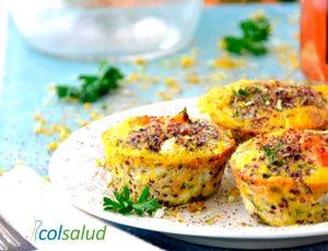Muffins de Verdura y Chía