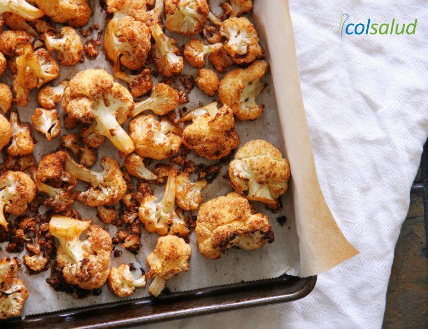Coliflor picante al horno