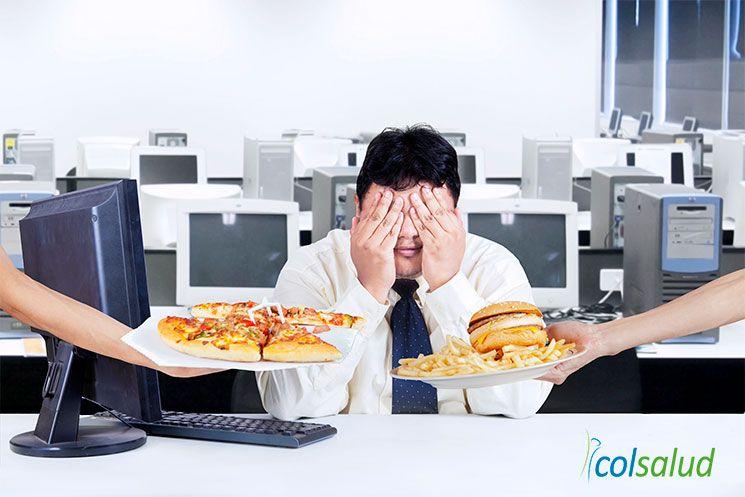comer tarde en el trabajo
